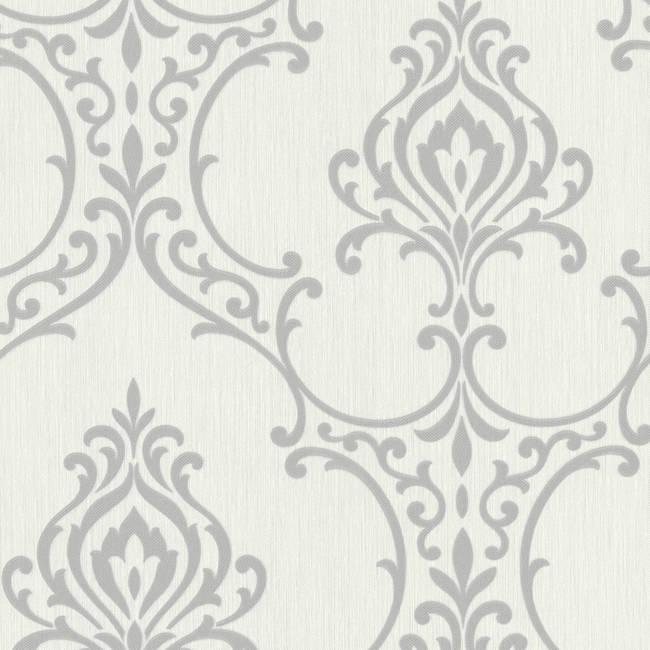 Scott Light Grey Nouveau Damask 495-69020