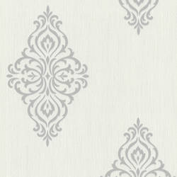Powell Light Grey Damask Medallion 495-69025
