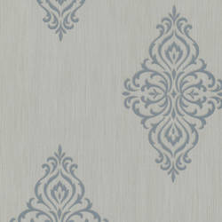 Powell Aqua Damask Medallion 495-69026