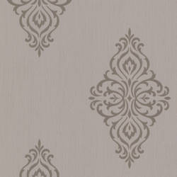 Powell Taupe Damask Medallion 495-69028