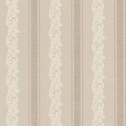 Rennie Stripe Beige Scrolling Stripe 495-69049