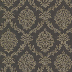 Tennyson Brown Shimmer Damask 495-69060