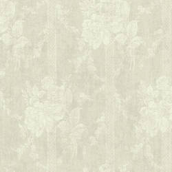 Taupe Floral Bouquet Stripe 292-80100