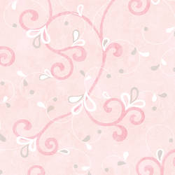 Jada Pink Girly Floral Scroll Wallpaper CHR11601