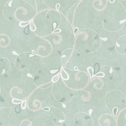 Jada Silver Girly Floral Scroll Wallpaper CHR11606