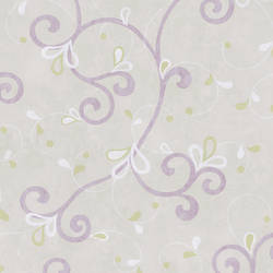 Jada Lilac Girly Floral Scroll Wallpaper CHR11607