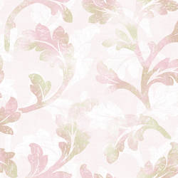 Natalia Purple Curly Scroll Wallpaper CHR11621