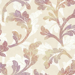 Natalia Taupe Floral Scroll Wallpaper CHR11622
