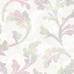 Natalia Blue Curly Scroll Wallpaper CHR11623