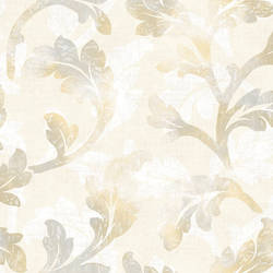 Natalia Peach Curly Scroll Wallpaper CHR11624