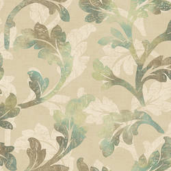 Natalia Moss Floral Scroll Wallpaper CHR11625
