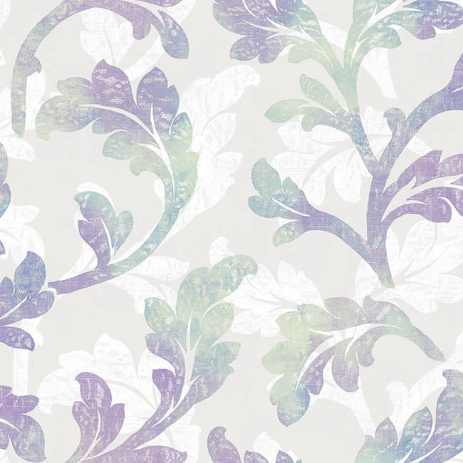 Natalia Iris Floral Scroll Wallpaper CHR11626