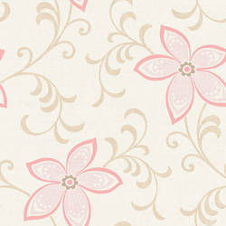 Khloe Green Girly Floral Scroll Wallpaper CHR11631
