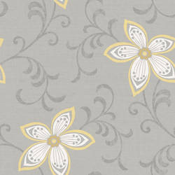 Khloe Blue Girly Floral Scroll Wallpaper CHR11632