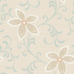 Khloe Orange Girly Floral Scroll Wallpaper CHR11634