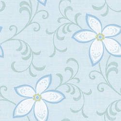 Khloe Light Blue Girly Floral Scroll Wallpaper CHR11635