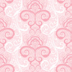 Vanessa Pink Henna Brocade Wallpaper CHR11641