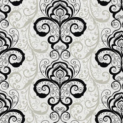 Vanessa Black Henna Brocade Wallpaper CHR11642