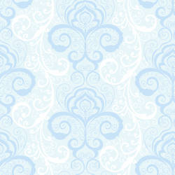 Vanessa Light Blue Henna Brocade Wallpaper CHR11646