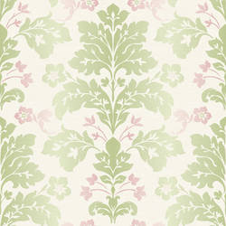 Camila Green Modern Damask Wallpaper CHR11651