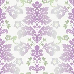 Camila Lilac Modern Damask Wallpaper CHR116510