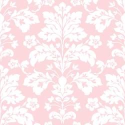 Camila Pink Modern Damask Wallpaper CHR11652