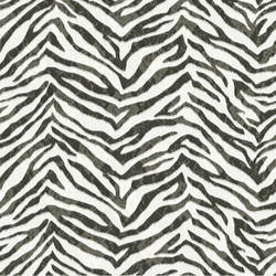 Mia Black Faux Zebra Stripes Wallpaper CHR11673