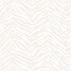 Mia Bone Faux Zebra Stripes Wallpaper CHR11675