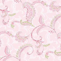 Riley Pink Paisley Scroll Wallpaper CHR11691