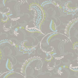 Riley Grey Paisley Scroll Wallpaper CHR11692