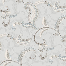 Riley Blue Paisley Scroll Wallpaper CHR11693