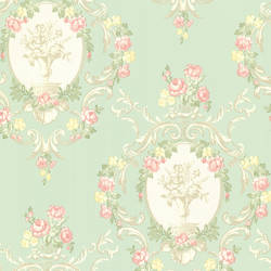 Maybelle Mint Cameo Damask 344-68743