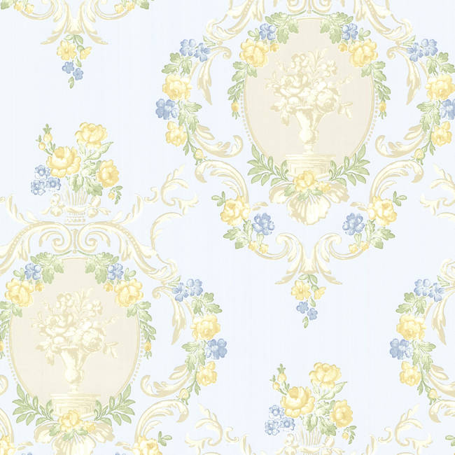 Maybelle Blue Cameo Damask 344-68744
