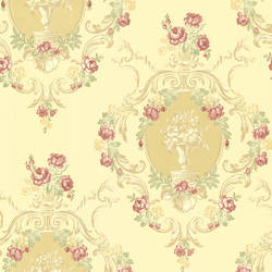 Maybelle Yellow Cameo Damask 344-68745
