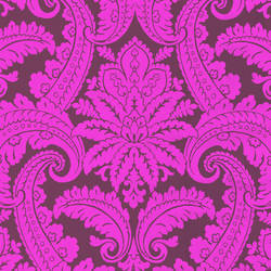 Purple Foil Damask 310802