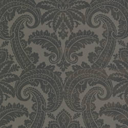Brown Foil Damask 310804