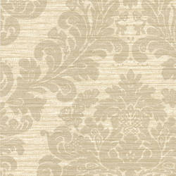 Anders Grey Grasscloth Damask 2446-83541