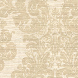 Anders Brown Grasscloth Damask 2446-83543