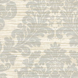 Anders Blue Grasscloth Damask 2446-83545