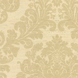 Anders Beige Grasscloth Damask 2446-83547