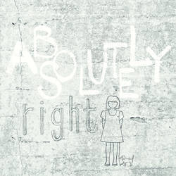 Absolutely Right Light Grey Graphic Wall Mural 356200