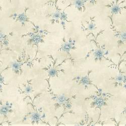 Elizabeth Aqua Floral Trail Wallpaper CG11334