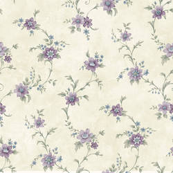 Elizabeth Purple Floral Trail Wallpaper CG11337