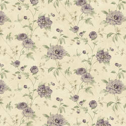 Priscilla Purple Peony Floral Trail Wallpaper CG11353