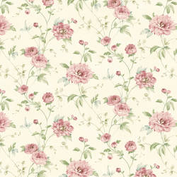 Priscilla Pink Peony Floral Trail Wallpaper CG11354