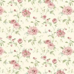 Priscilla Pink Peony Floral Trail Wallpaper CG11354