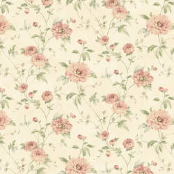 Priscilla Red Peony Floral Trail Wallpaper CG11355