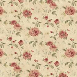 Priscilla Rust Peony Floral Trail Wallpaper CG11357