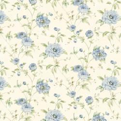 Priscilla Blue Peony Floral Trail Wallpaper CG11358