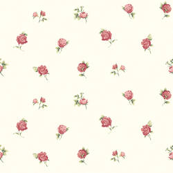 Sandra Red Floral Toss Wallpaper CG11361